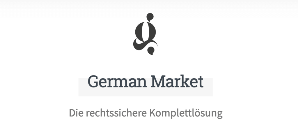 WooCommerce Plugin German Market für rechtssichere Online Shops