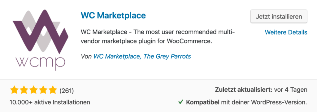 WC Marketplace - Marktplatz für WordPress WooCommerce