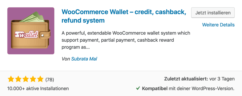 WooCommerce Wallet Plugin - Digitales Geld für dein Online Shop