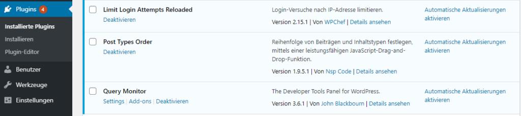 auto-updates im Dashboard von wp 5.5