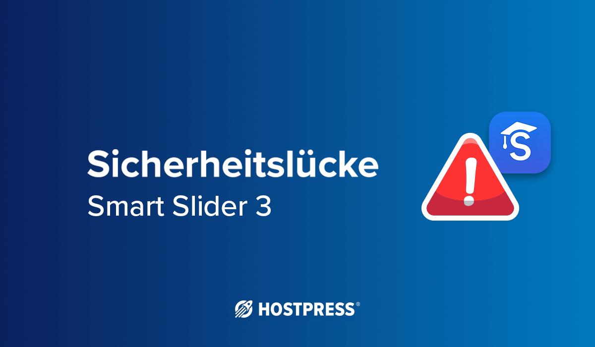 Sicherheitslücke bei WordPress Plugin: Smart Slider 3