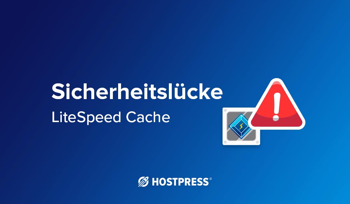 Lightspeed Cache - wordpress plugin sicherheitslücke