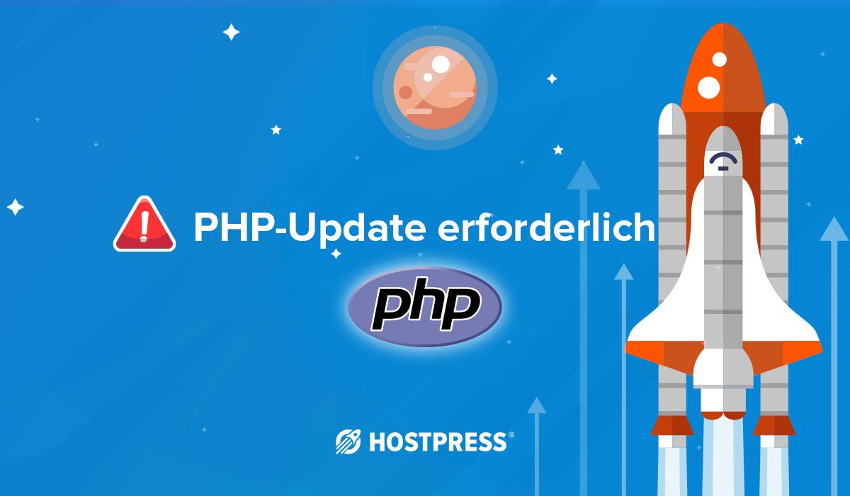 php update erforderlich servehappy dashboard