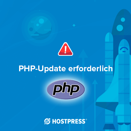 php update erforderlich servehappy dashboard