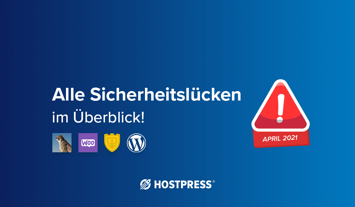 wordpress sicherheitslücken april 2021