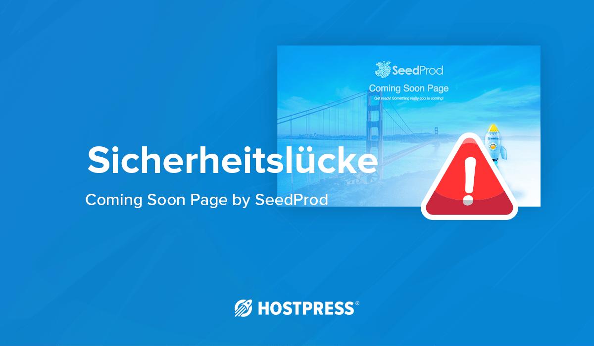 WordPress Sicherheitslücke coming soon page seedprod