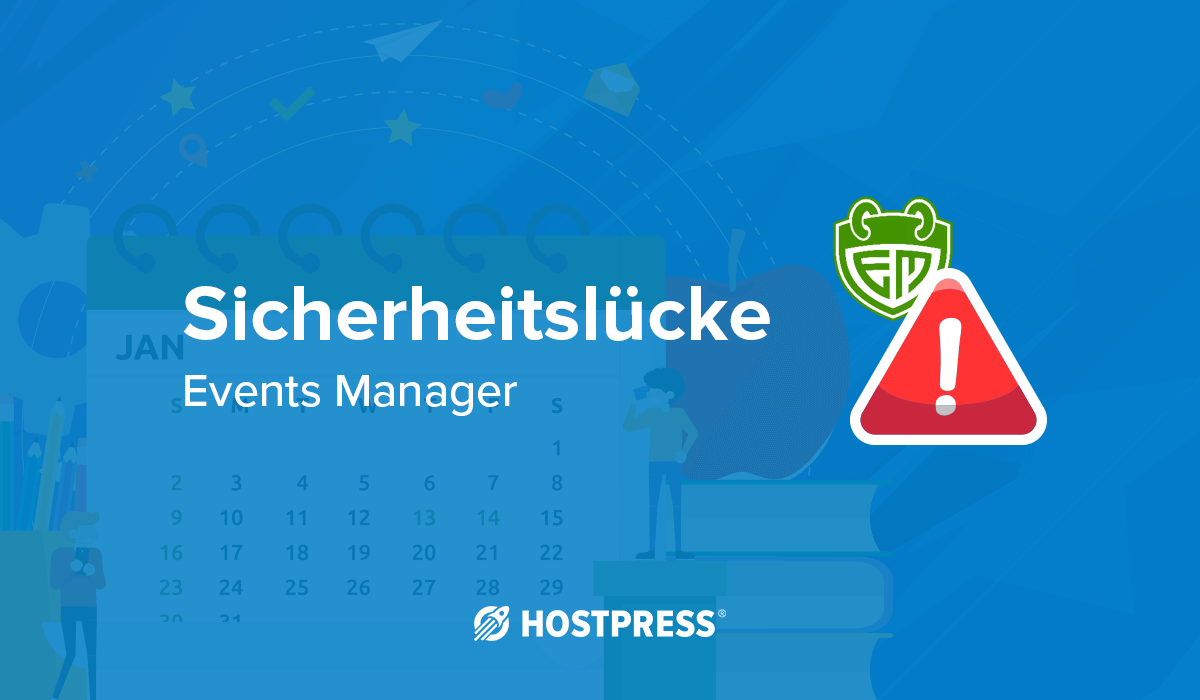 WordPress Plugin Events Manager Sicherheitslücke