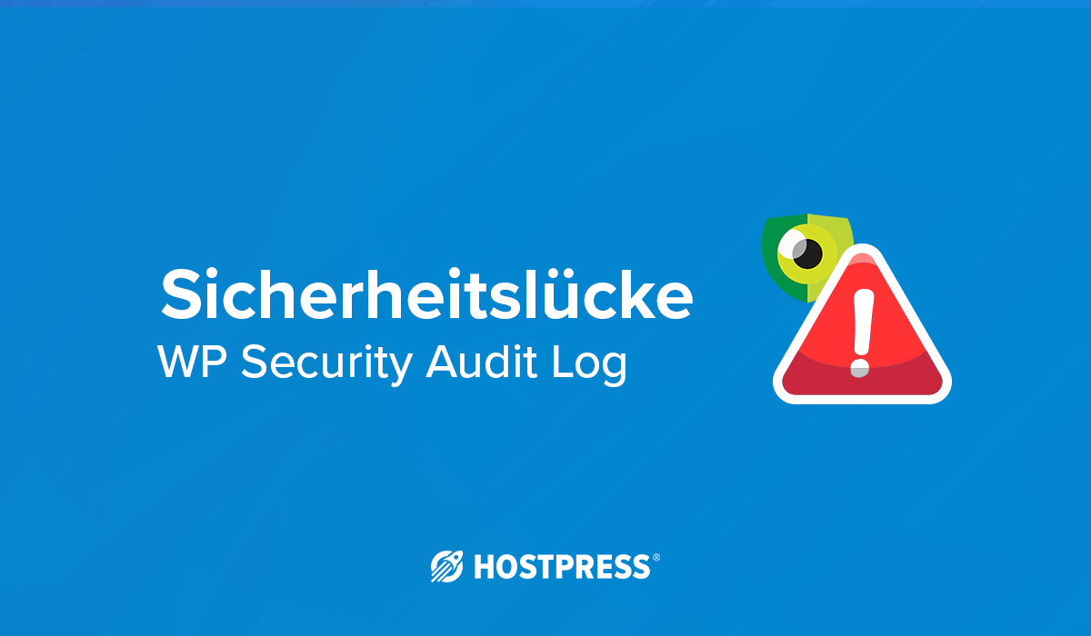 Sicherheitslücke WordPress Plugin WP Security Audit Log broken access control