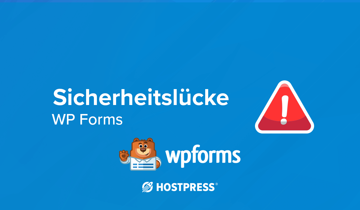 Sicherheitslücke WordPress Plugin contact WP Forms authenticated stored xss