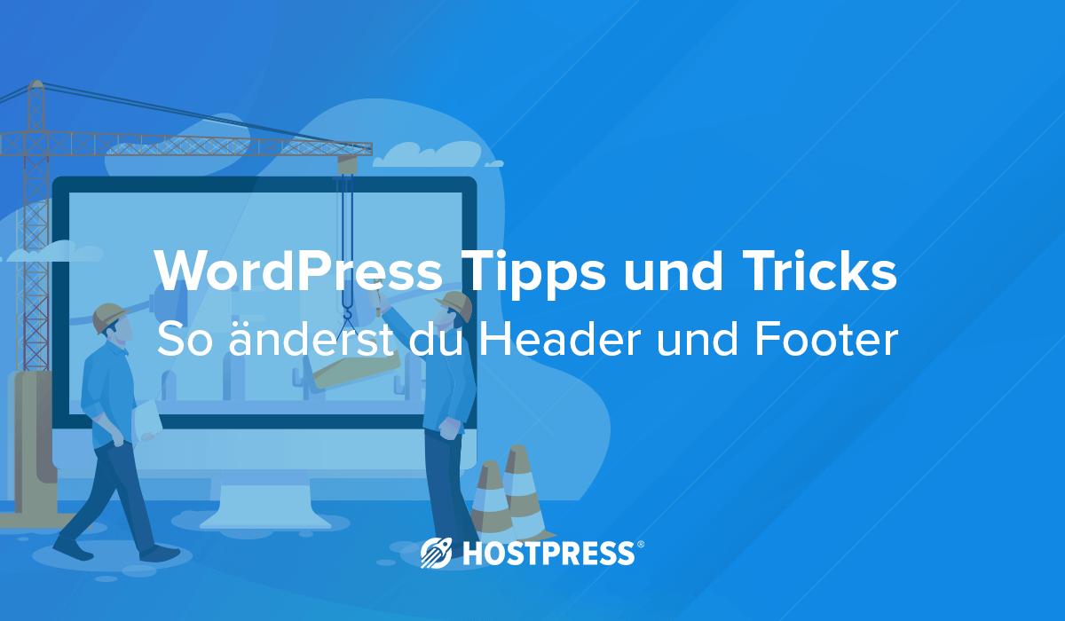 header footer wordpress, kopf- und fußzeile