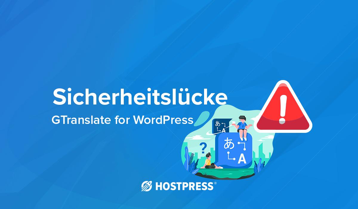 Sicherheitslücke Gtranslate for WordPress