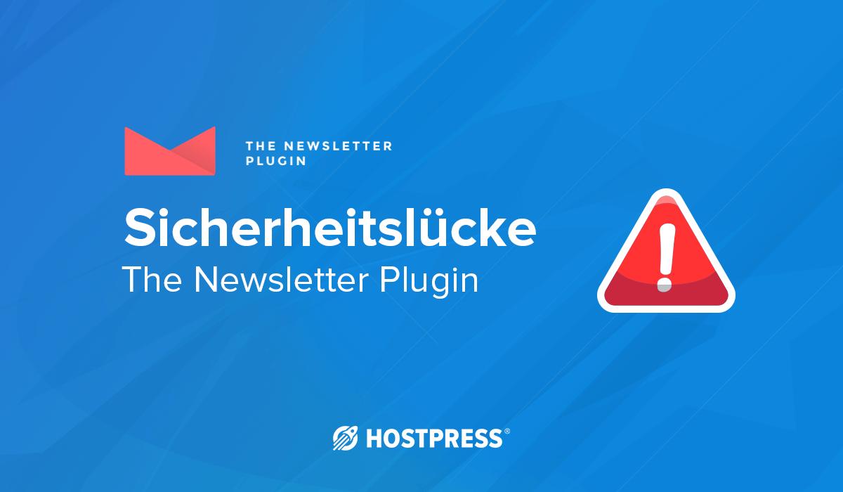 Sicherheitslücke WordPress Plugin Newsletter csv injection