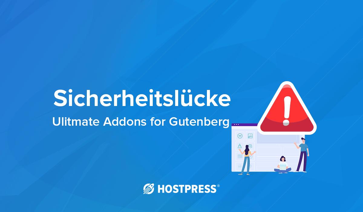 Sicherheitslücke Ultimate Addons Gutenberg