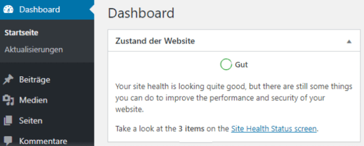 site health wp 5.4