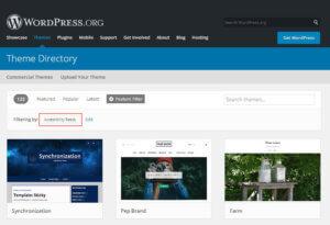 Barrierefreie Themes auf WordPress.org finden
