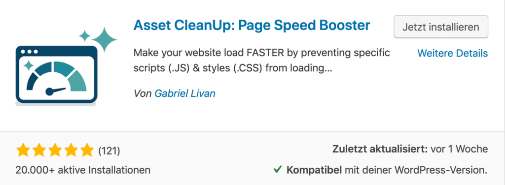 Asset CleanUp - WordPress Performance Booster für deine Website