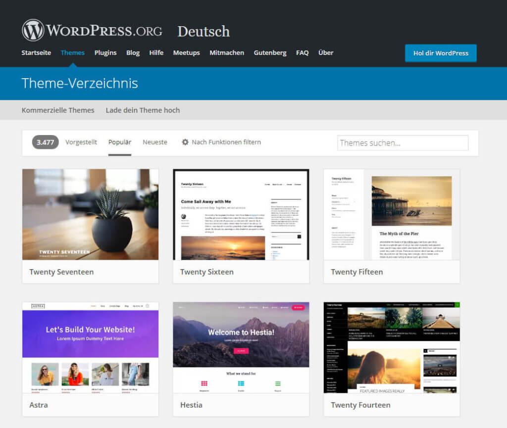 Theme-Verzeichnis WordPress