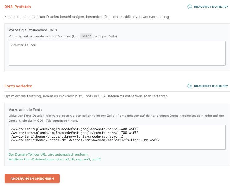 WP Rocket: DNS Prefetch